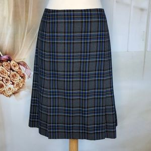Casual Corner Glen Plaid A-Line Skirt